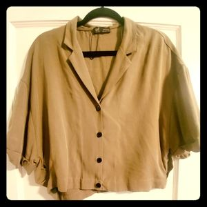 Awesome Women's Olive Button Zara Blouse